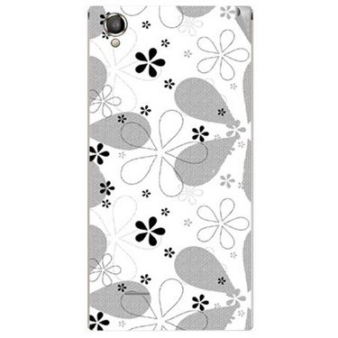 Snooky 40890 Digital Print Mobile Skin Sticker For XOLO A550S IPS - White