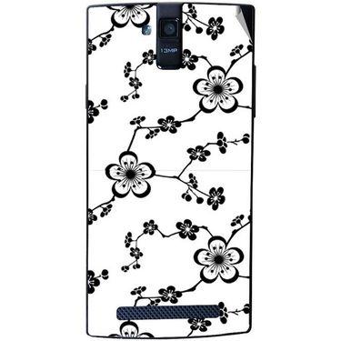 Snooky 41154 Digital Print Mobile Skin Sticker For XOLO Q2000 - White