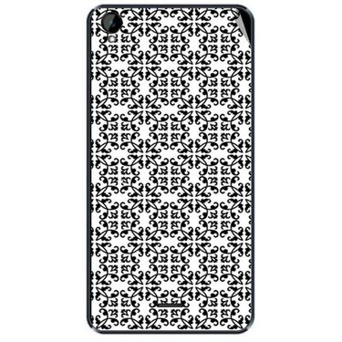 Snooky 41158 Digital Print Mobile Skin Sticker For XOLO Q2000L - White