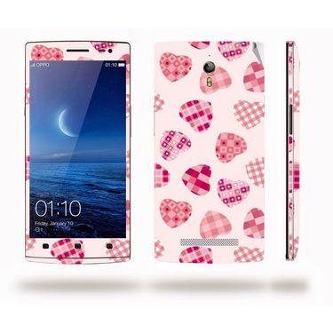 Snooky 41306 Digital Print Mobile Skin Sticker For OPPO Find 7 X9076 - White