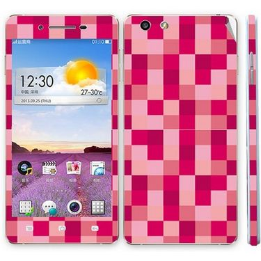 Snooky 41347 Digital Print Mobile Skin Sticker For OPPO R1 R829t - Purple