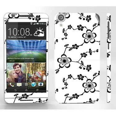 Snooky 41406 Digital Print Mobile Skin Sticker For HTC Desire 820 - White