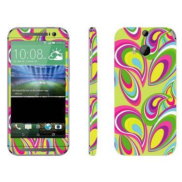 Snooky 41415 Digital Print Mobile Skin Sticker For HTC One M8 - multicolour