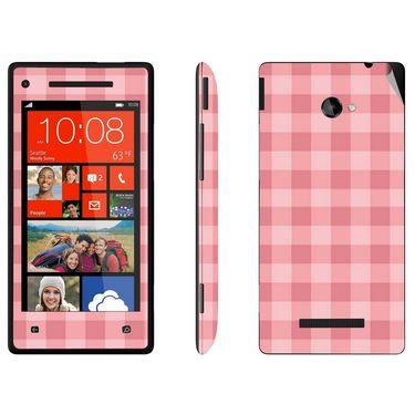 Snooky 41430 Digital Print Mobile Skin Sticker For HTC 8X C620E - Pink