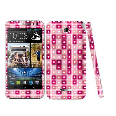 Snooky 41447 Digital Print Mobile Skin Sticker For HTC Desire 616 - Pink