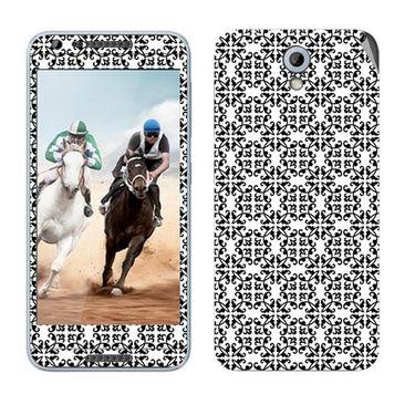 Snooky 41452 Digital Print Mobile Skin Sticker For HTC Desire 820 mini - White