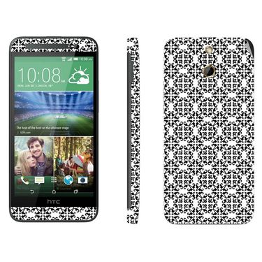 Snooky 41466 Digital Print Mobile Skin Sticker For HTC One E8 - White