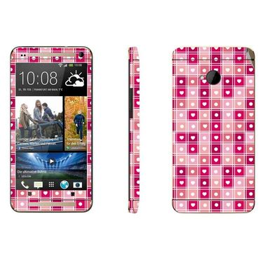 Snooky 41489 Digital Print Mobile Skin Sticker For HTC One M7 - Pink