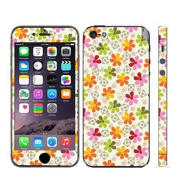 Snooky 41510 Digital Print Mobile Skin Sticker For Apple Iphone 5 - White