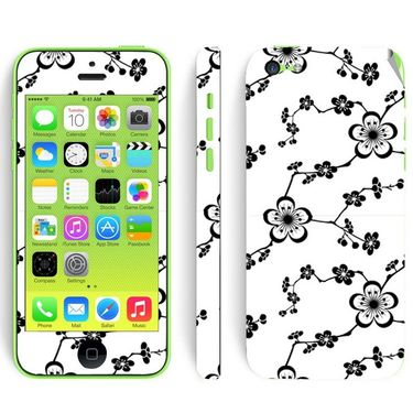 Snooky 41532 Digital Print Mobile Skin Sticker For Apple Iphone 5C - White