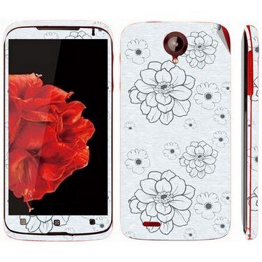 Snooky 41589 Digital Print Mobile Skin Sticker For Lenovo S820 - Grey
