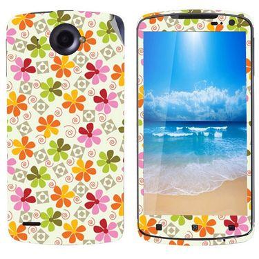 Snooky 41594 Digital Print Mobile Skin Sticker For Lenovo S920 - White