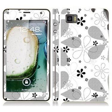 Snooky 41618 Digital Print Mobile Skin Sticker For Lenovo K860 - White