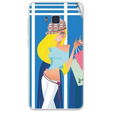 Snooky 41645 Digital Print Mobile Skin Sticker For Lava Iris 406Q - Blue