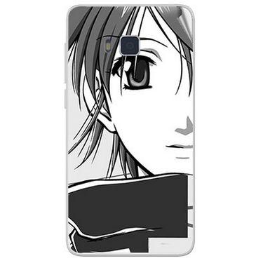 Snooky 41653 Digital Print Mobile Skin Sticker For Lava Iris 406Q - Grey