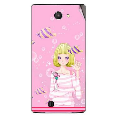 Snooky 41658 Digital Print Mobile Skin Sticker For Lava Iris 456 - Pink