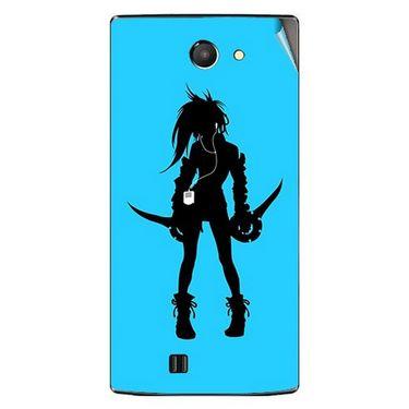 Snooky 41664 Digital Print Mobile Skin Sticker For Lava Iris 456 - Blue