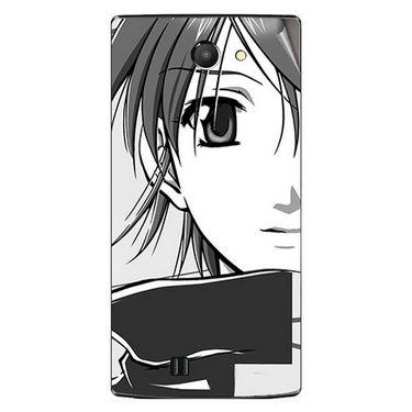 Snooky 41665 Digital Print Mobile Skin Sticker For Lava Iris 456 - Grey