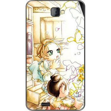 Snooky 41671 Digital Print Mobile Skin Sticker For Lava Iris 502 - White