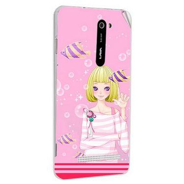 Snooky 41682 Digital Print Mobile Skin Sticker For Lava Iris 503 - Pink