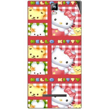 Snooky 41696 Digital Print Mobile Skin Sticker For Lava Iris 504Q Plus - Red