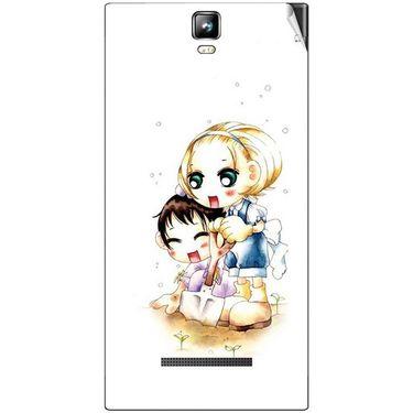 Snooky 41704 Digital Print Mobile Skin Sticker For Lava Iris 504Q Plus - White
