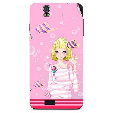Snooky 41718 Digital Print Mobile Skin Sticker For Lava Iris selfie 50 - Pink