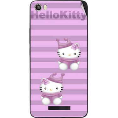 Snooky 41733 Digital Print Mobile Skin Sticker For Lava Iris X8 - Pink