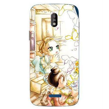 Snooky 41743 Digital Print Mobile Skin Sticker For Lava Iris 450 - White