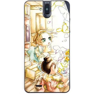 Snooky 41755 Digital Print Mobile Skin Sticker For Lava Iris 550Q - White