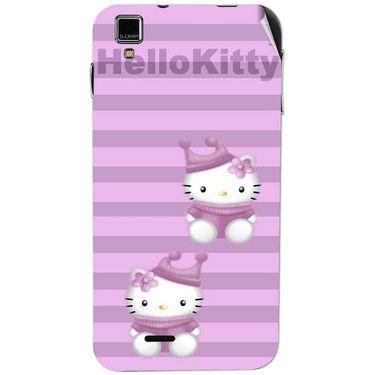 Snooky 41769 Digital Print Mobile Skin Sticker For Lava Iris 405Plus - Pink