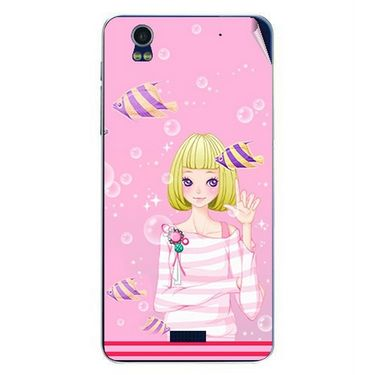 Snooky 41778 Digital Print Mobile Skin Sticker For Lava Iris Pro 20 - Pink