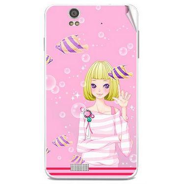 Snooky 41802 Digital Print Mobile Skin Sticker For Lava Iris X5 - Pink
