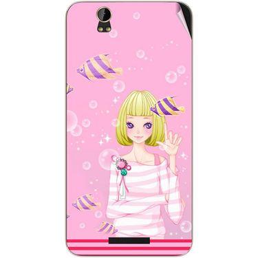 Snooky 41826 Digital Print Mobile Skin Sticker For Lava Iris X1 Grand - Pink