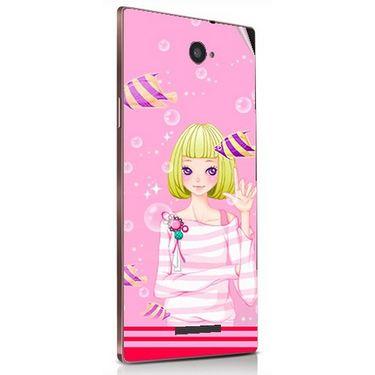 Snooky 41838 Digital Print Mobile Skin Sticker For Lava Magnum X604 - Pink