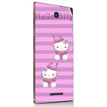 Snooky 41841 Digital Print Mobile Skin Sticker For Lava Magnum X604 - Pink