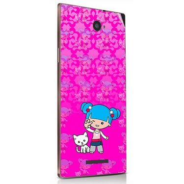 Snooky 41846 Digital Print Mobile Skin Sticker For Lava Magnum X604 - Pink