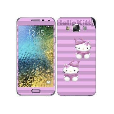Snooky 41875 Digital Print Mobile Skin Sticker For Samsung Galaxy E7 - Pink