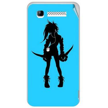 Snooky 41899 Digital Print Mobile Skin Sticker For Intex Aqua 3G - Blue