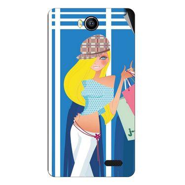 Snooky 41904 Digital Print Mobile Skin Sticker For Intex Aqua 4.5e - Blue