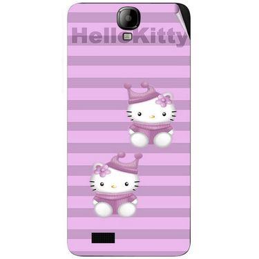 Snooky 41919 Digital Print Mobile Skin Sticker For Intex Aqua Amaze - Pink