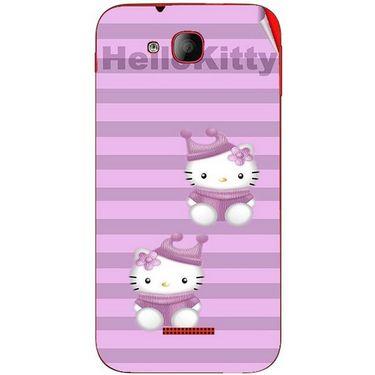 Snooky 41930 Digital Print Mobile Skin Sticker For Intex Aqua Curve - Pink
