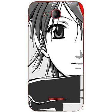 Snooky 41944 Digital Print Mobile Skin Sticker For Intex Aqua Curve Mini - Grey