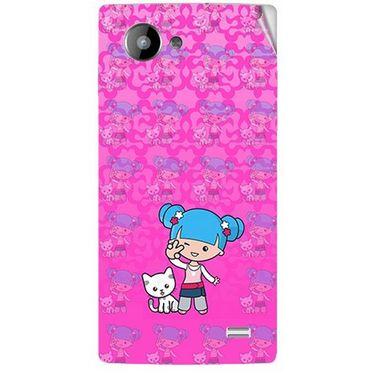 Snooky 41967 Digital Print Mobile Skin Sticker For Intex Aqua HD - Pink