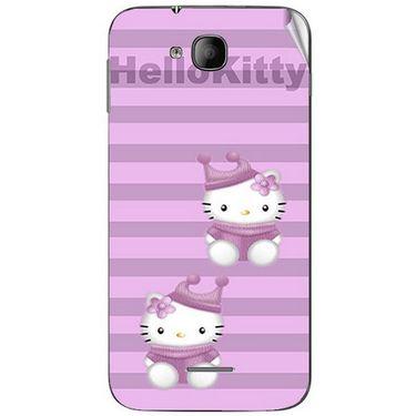 Snooky 41985 Digital Print Mobile Skin Sticker For Intex Aqua i4 - Pink
