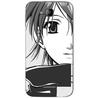 Snooky 41988 Digital Print Mobile Skin Sticker For Intex Aqua i4 - Grey