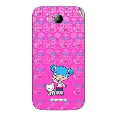 Snooky 42000 Digital Print Mobile Skin Sticker For Intex Aqua i5 - Pink