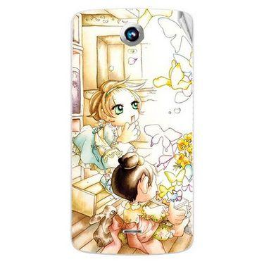 Snooky 42005 Digital Print Mobile Skin Sticker For Intex Aqua i6 - White