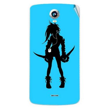 Snooky 42009 Digital Print Mobile Skin Sticker For Intex Aqua i6 - Blue