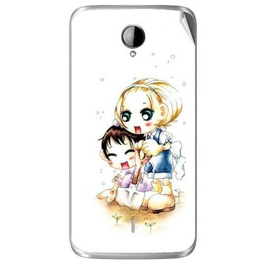 Snooky 42024 Digital Print Mobile Skin Sticker For Intex Aqua i14 - White